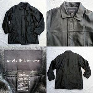 Men's Croft & Barrow Genuine Leather Jacket Black